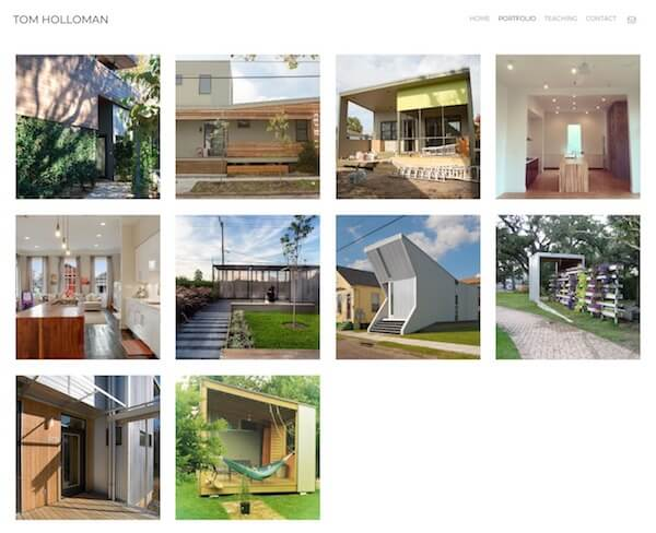 TOM HOLLOMAN Portfolio Website Examples