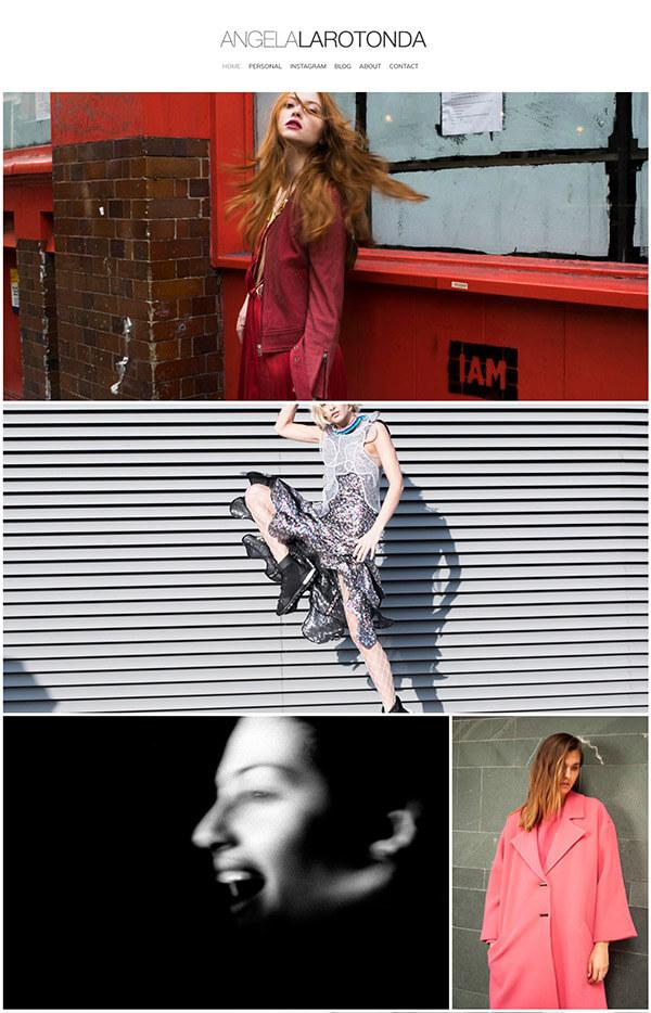 Angela G Larotonda Portfolio Website Examples