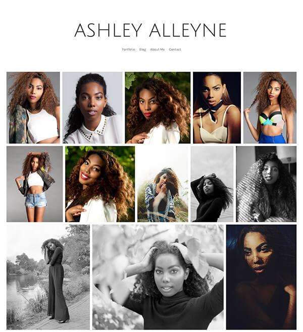 Ashley Alleyne Portfolio Website Examples