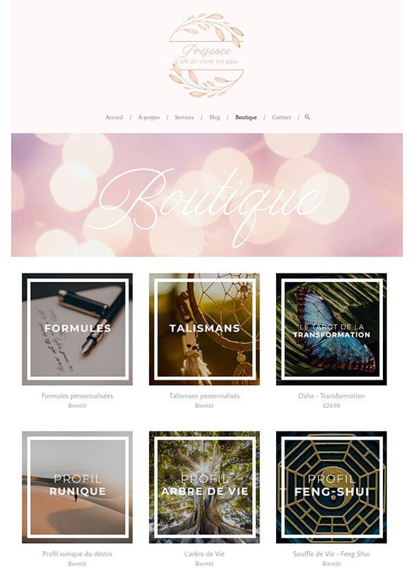 The Presence Project Portfolio Website Examples