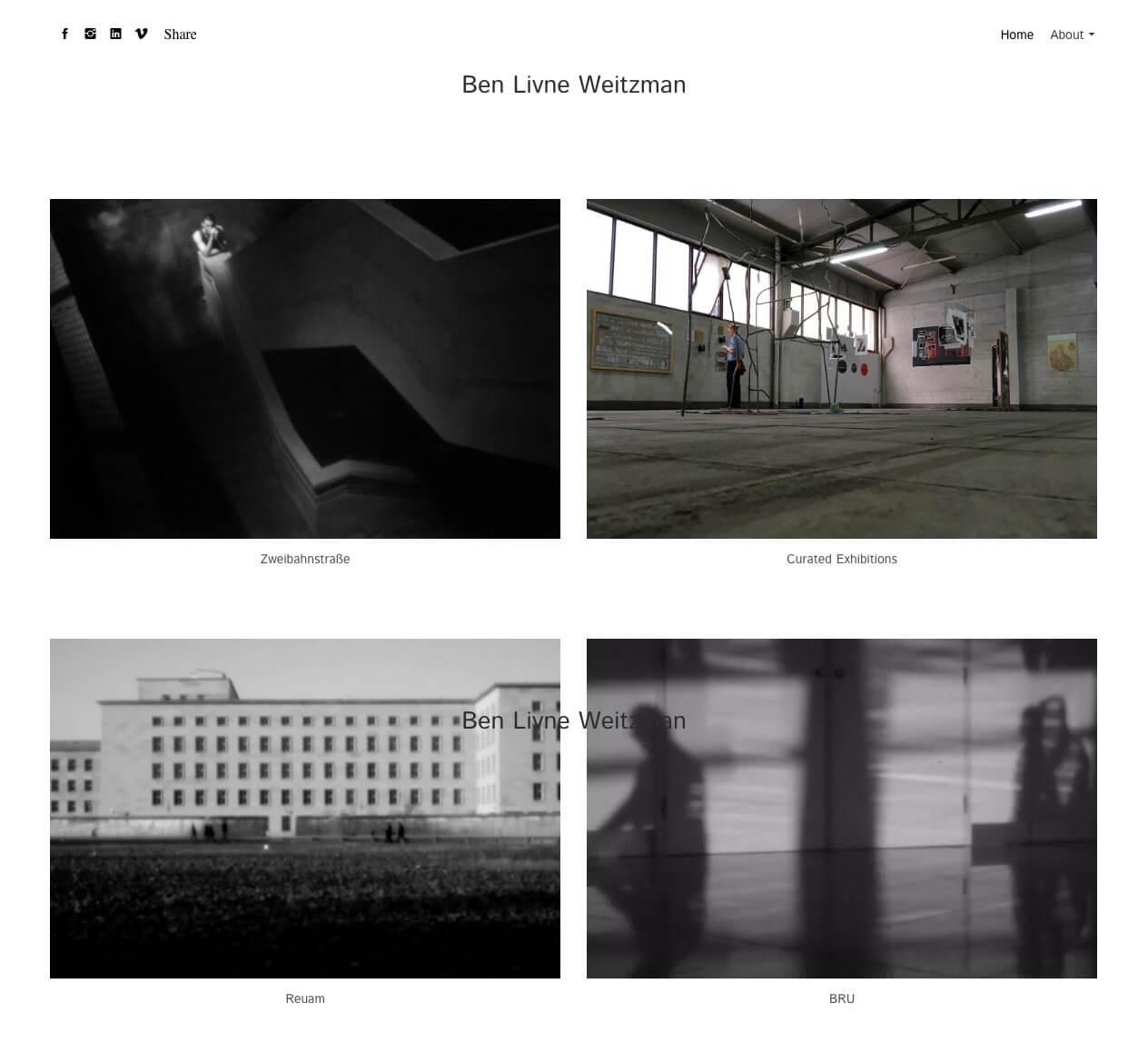 Ben Livne Weitzman Portfolio Website Examples