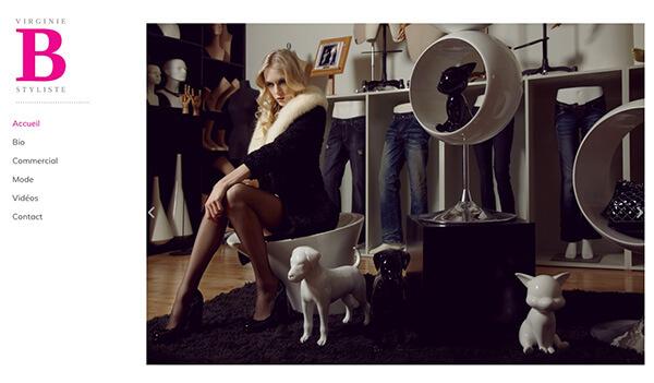 Virginie Bégin Portfolio Website Examples