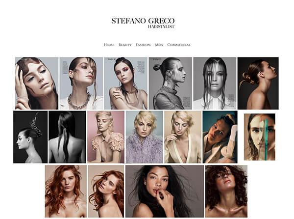 Stefano Greco Portfolio Website Examples Hairstylist USA