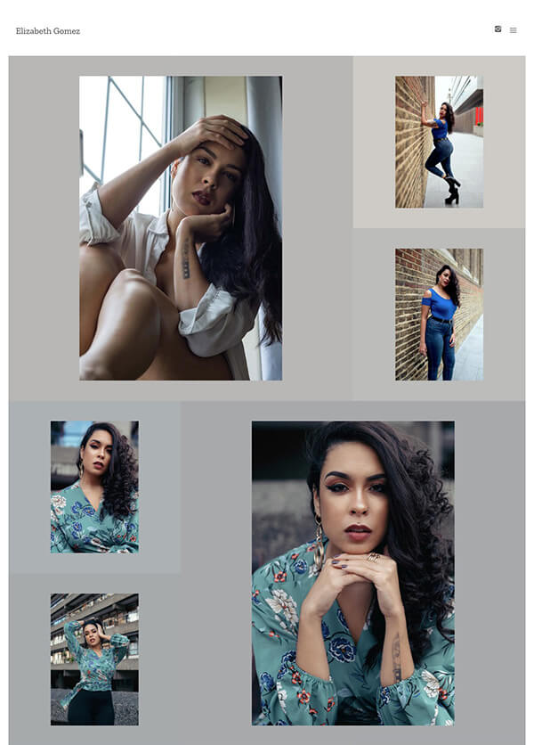 Elizabeth Gomez Portfolio Website Examples