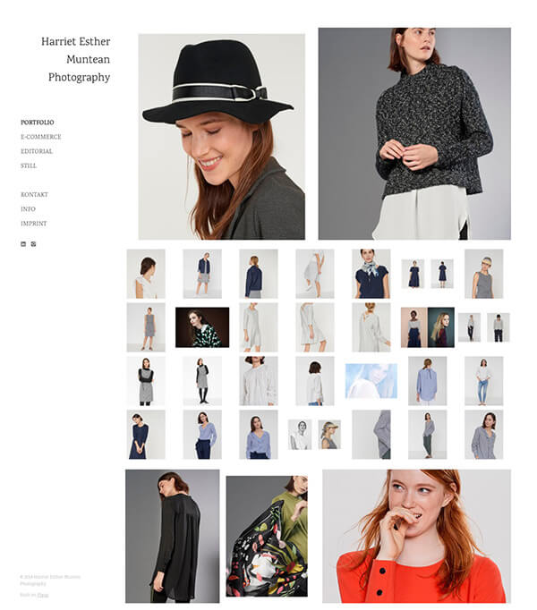 Harriet Esther Muntean Portfolio Website Examples