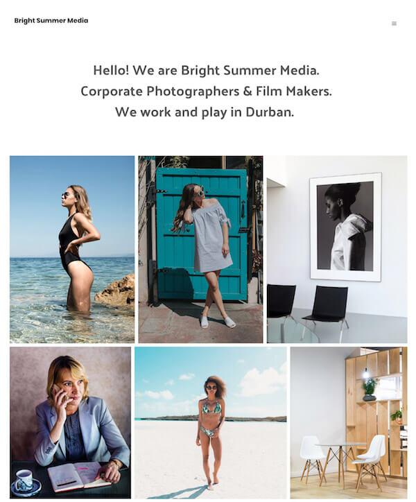 Bright Summer Media Portfolio Website Examples