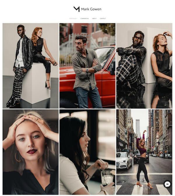 Mark Gowen Portfolio Website Examples