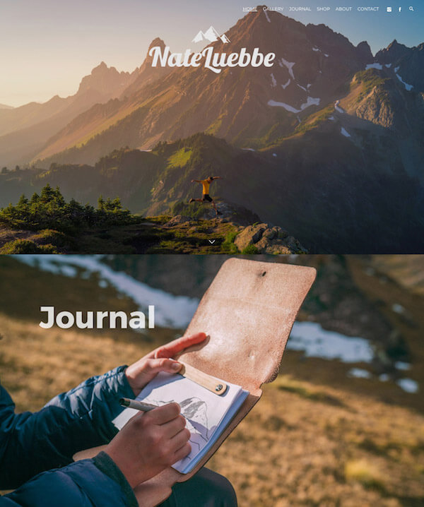 Nate Luebbe Portfolio Website Examples