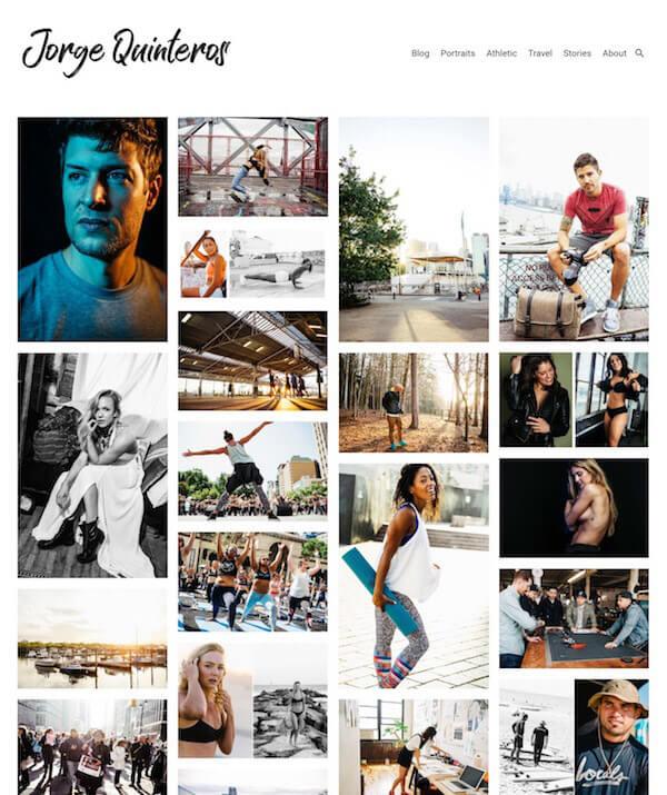 Jorge Quinteros Portfolio Website Examples
