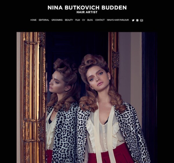Nina Butkovich Budden Portfolio Website Examples