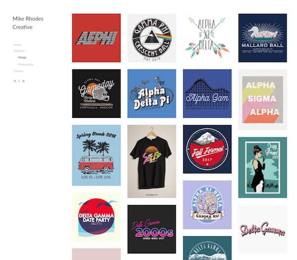 Michael Rhodes Portfolio Website Examples