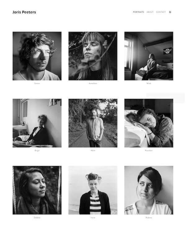 Joris Peeters Portfolio Website Examples
