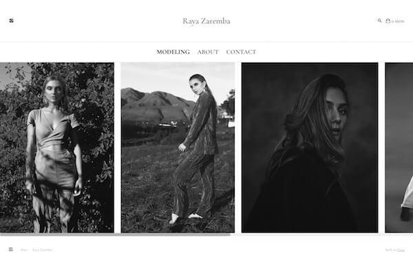Raya Zaremba Portfolio Website Examples