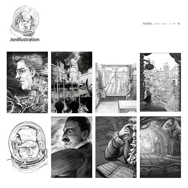 Jurgis Jonaitis Portfolio Website Examples