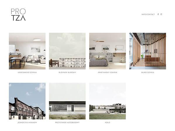 Studio PROTZA Portfolio Website Examples