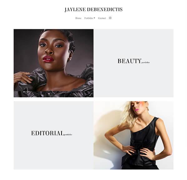 Jaylene Debenedictis  Portfolio Website Examples