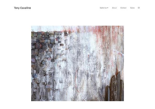 Tony Cavalline Portfolio Website Examples
