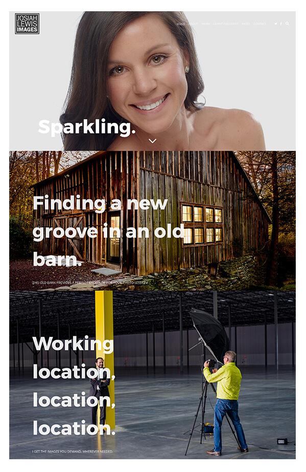 Josiah Lewis Portfolio Website Examples