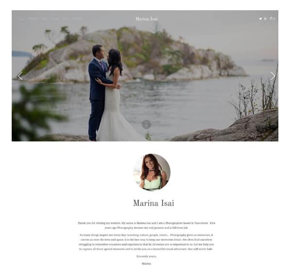 Marina Isai Portfolio Website Examples