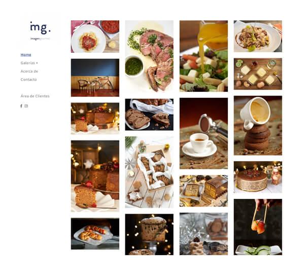 Imagen Gourmet Portfolio Website Examples