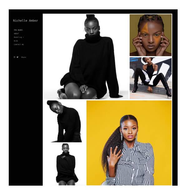 Nichelle Amber Portfolio Website Examples