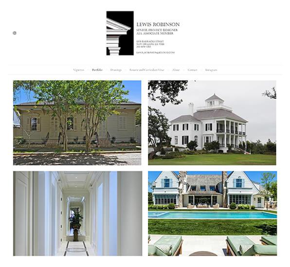 Lewis Robinson Portfolio Website Examples