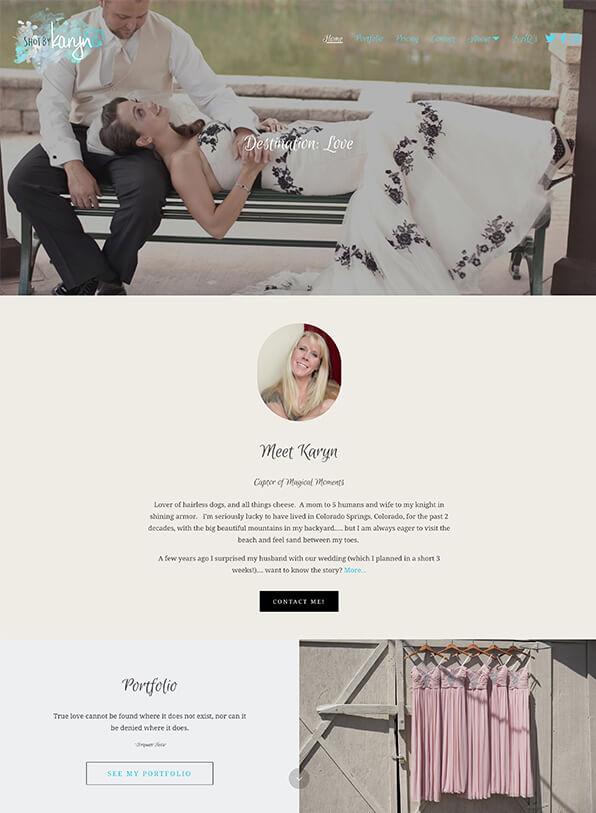 Karyn Portfolio Website Examples
