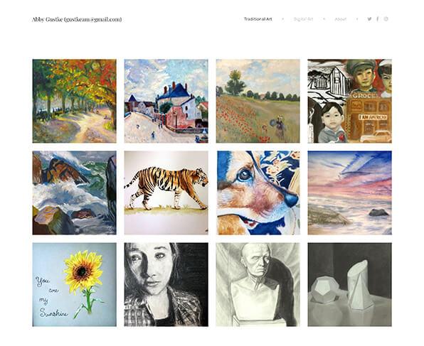 Abby Gustke Portfolio Website Examples
