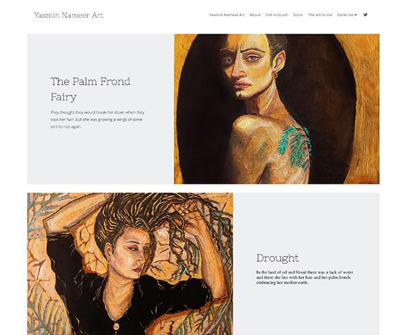Yasmin Nameer Portfolio Website Examples