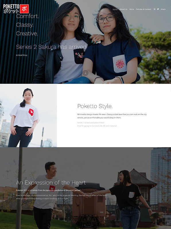 Poketto Portfolio Website Examples