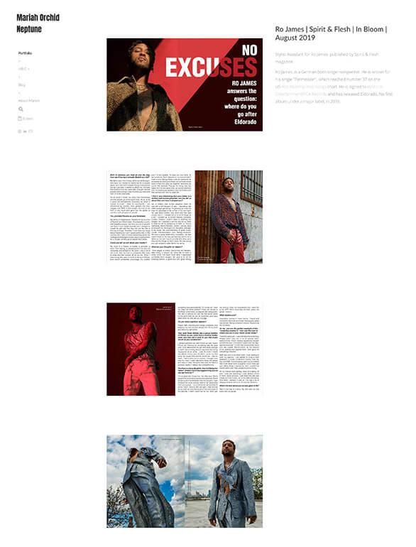 Mariah Orchid Neptune Portfolio Website Examples