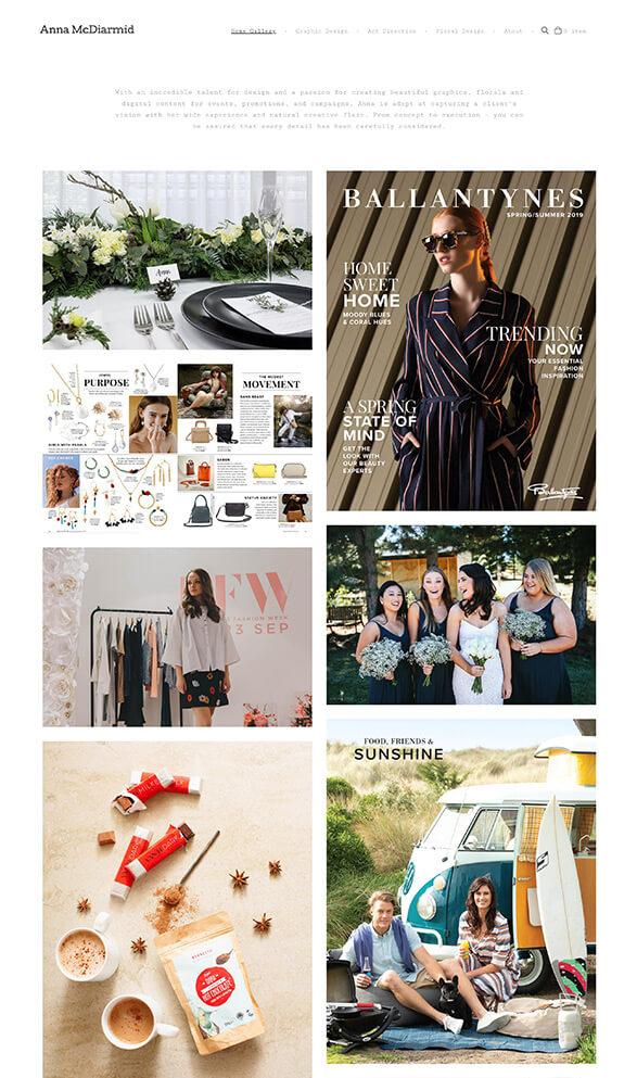 Anna Mc Diarmid Portfolio Website Examples