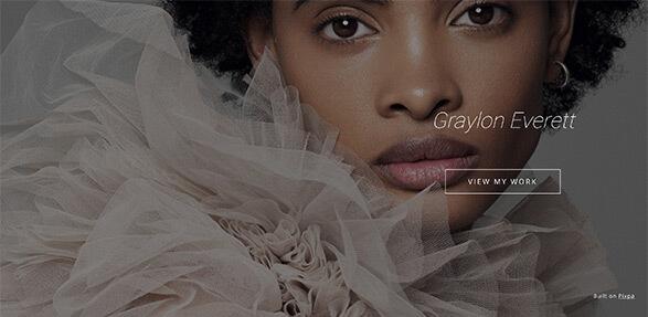 Graylon Everett Portfolio Website Examples