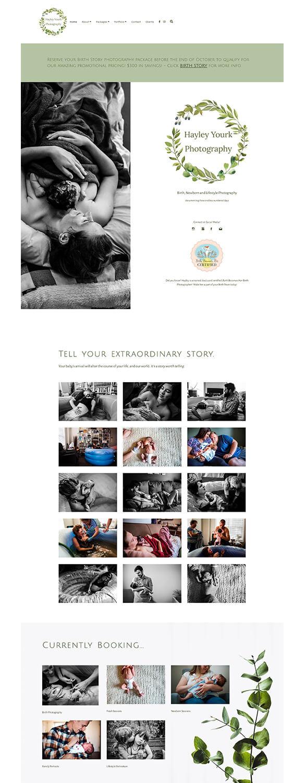 Hayley Yourk Photography Portfolio Website Examples