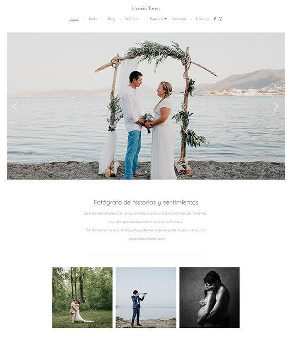 Hernan Torres Portfolio Website Examples
