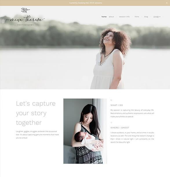 Miwa Theresa Portfolio Website Examples