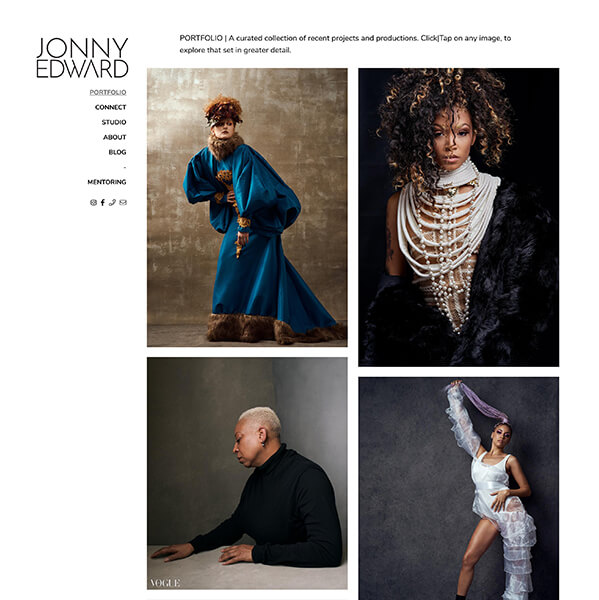 Jonny Edward Portfolio Website Examples