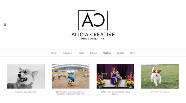 Alicia Creative Photography Portfolio Website Examples