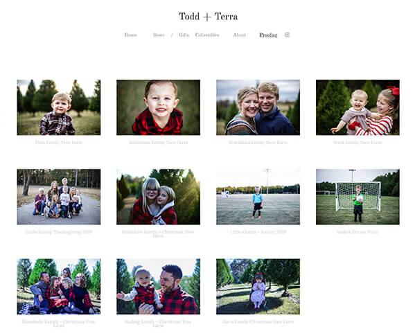 Todd + Terra Portfolio Website Examples