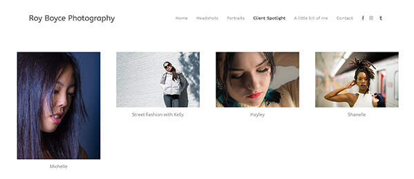 Roy Boyce Photography Portfolio Website Examples