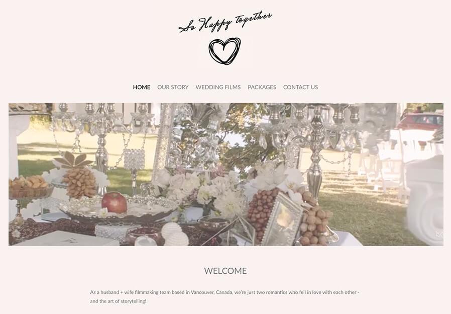 So Happy Together Portfolio Website Examples