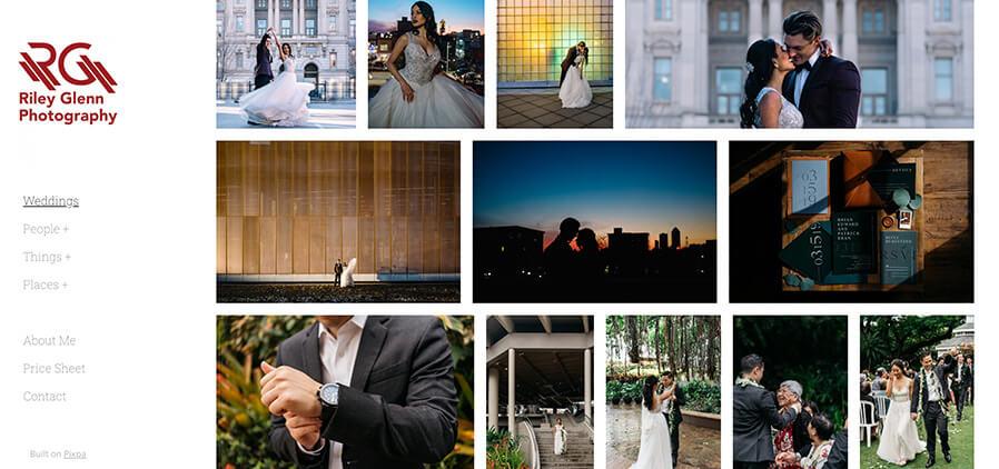 Riley Glenn Photography Portfolio Website Examples