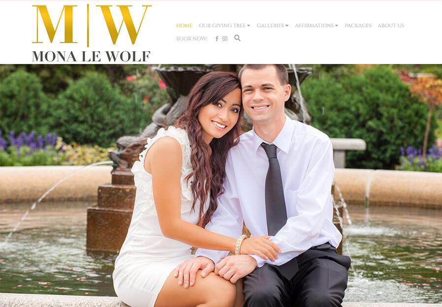 Mona Le Wolf Portfolio Website Examples