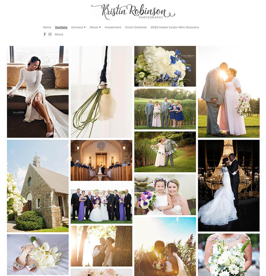 Kristin Robinson Photography Portfolio Website Examples