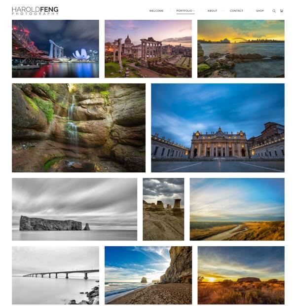 Harold Feng Portfolio Website Examples