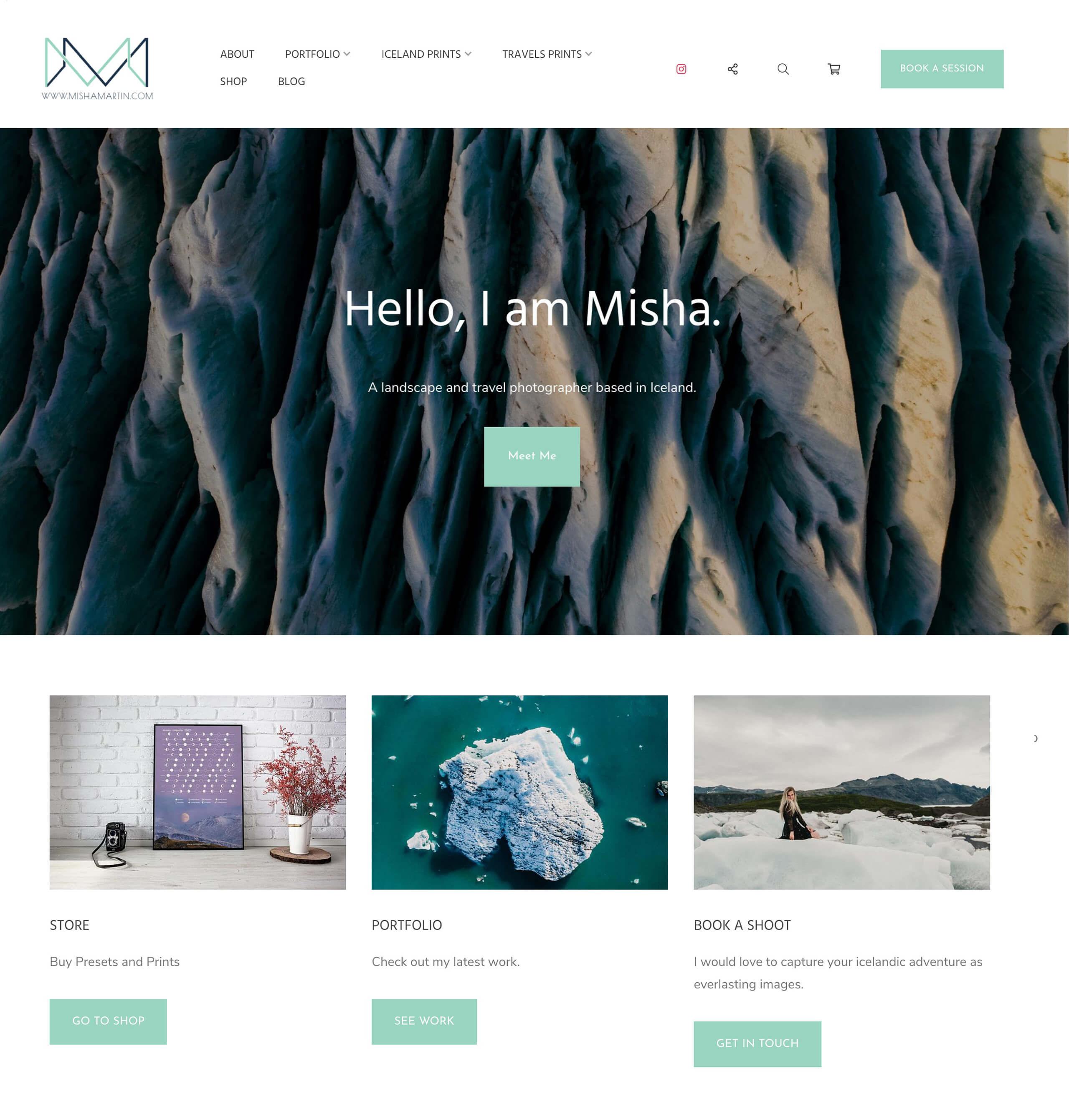 Misha Martin Portfolio Website Examples
