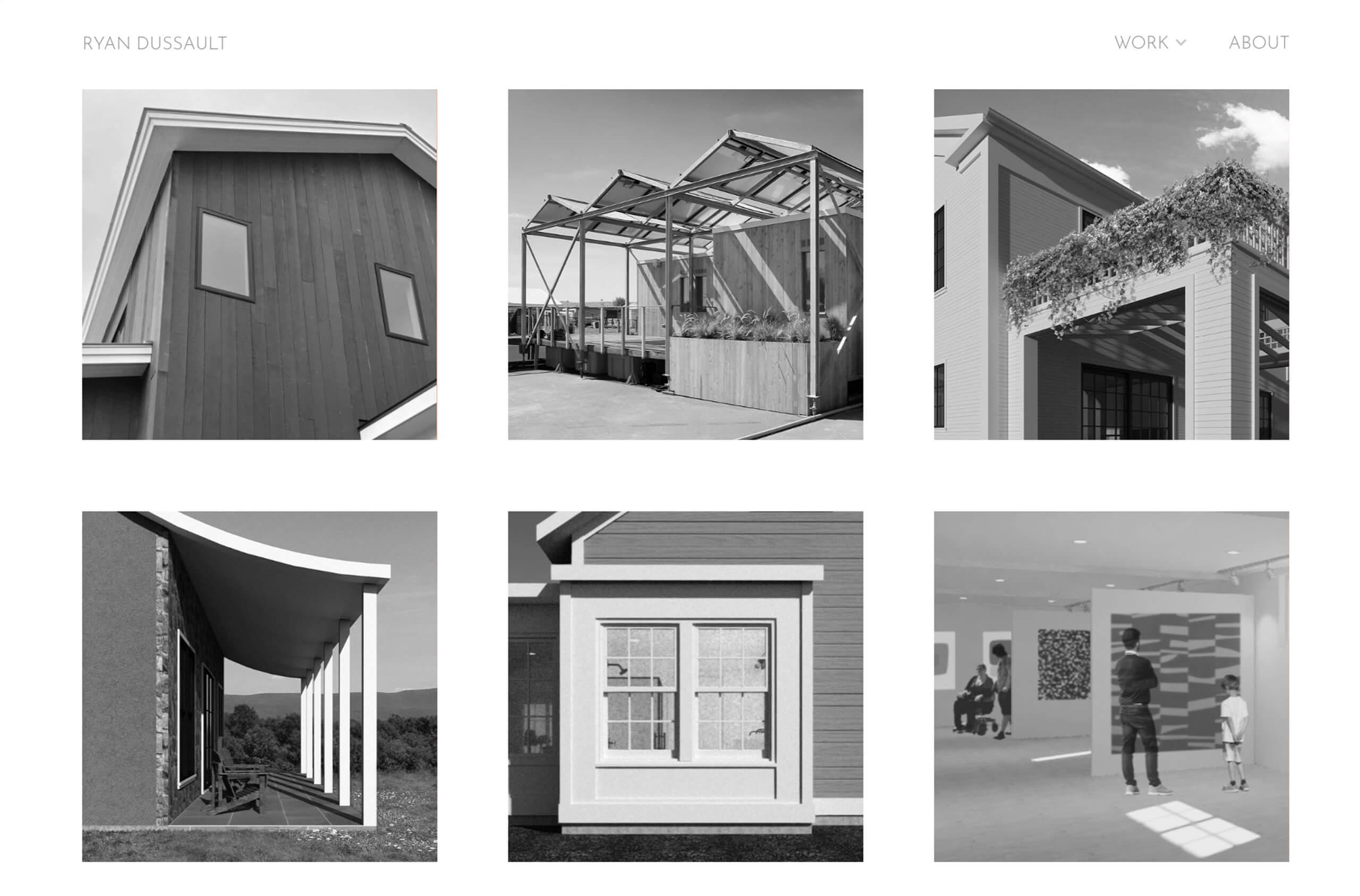 Ryan Dussault Portfolio Website Examples