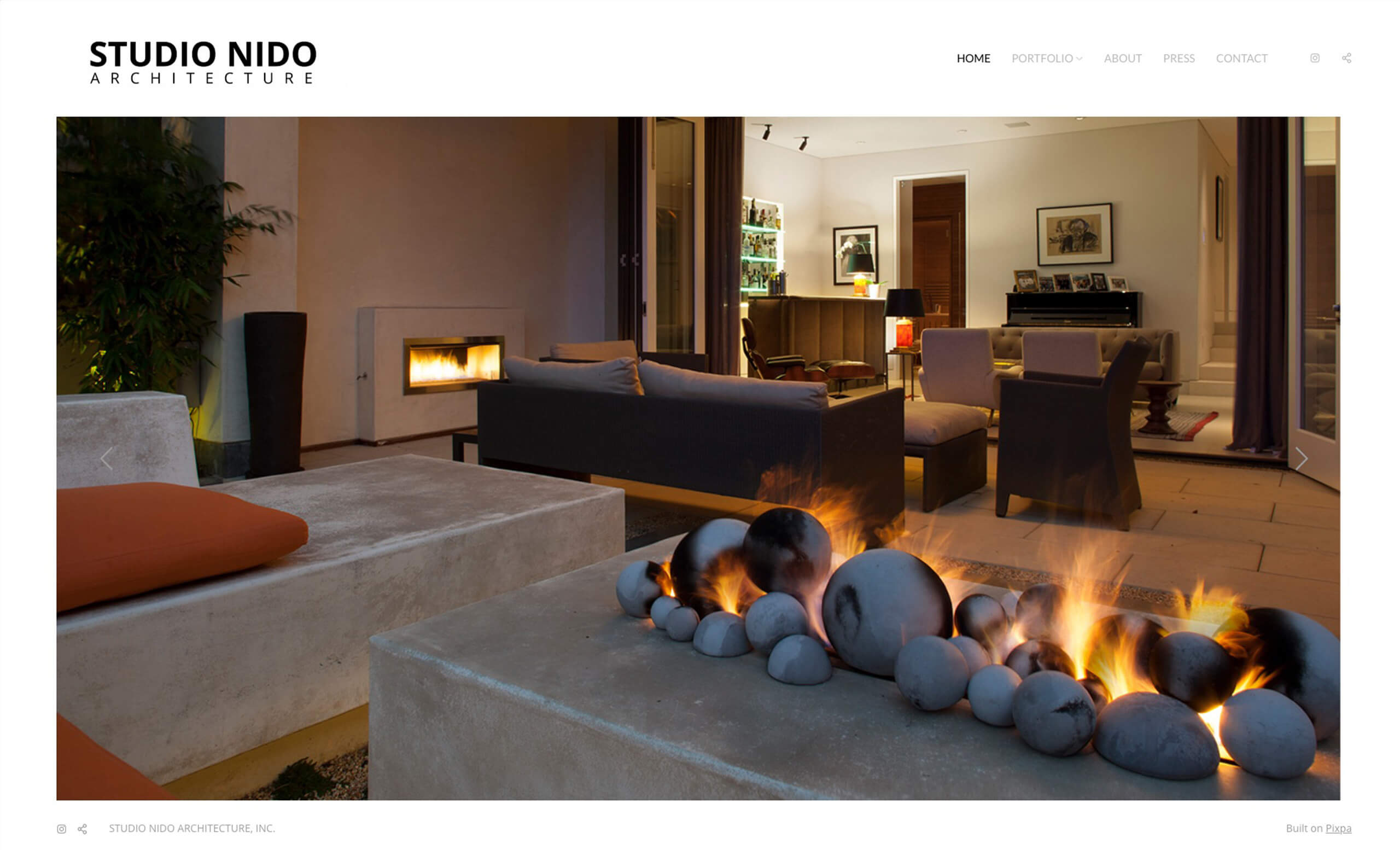 Studio Nido Portfolio Website Examples