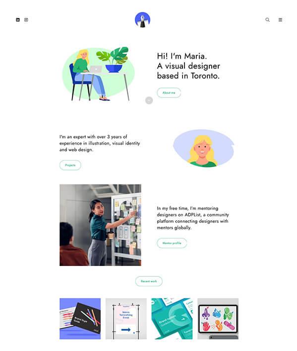 Maria Maka Portfolio Website Examples