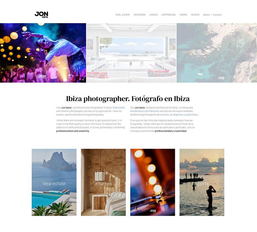Jon Izeta Portfolio Website Examples